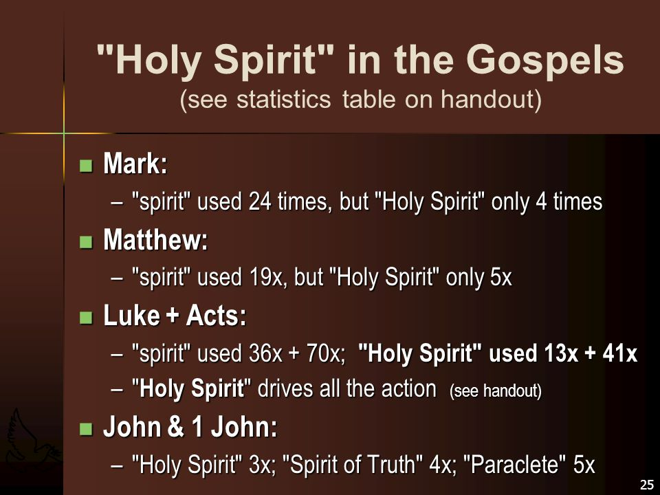 holy spirit in johns gospel essay Open document below is an essay on in what ways does the gospel of john differ from the synoptics from anti essays, your source for research papers, essays, and term paper examples.