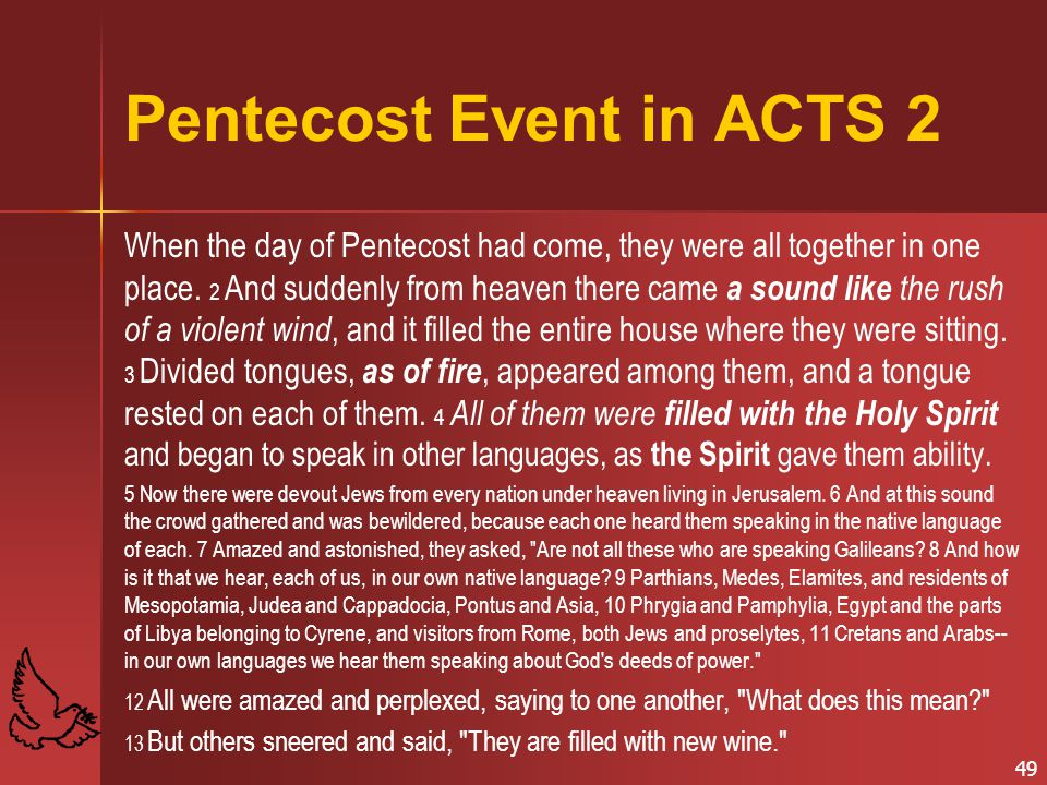 Pentecost Event in ACTS 2