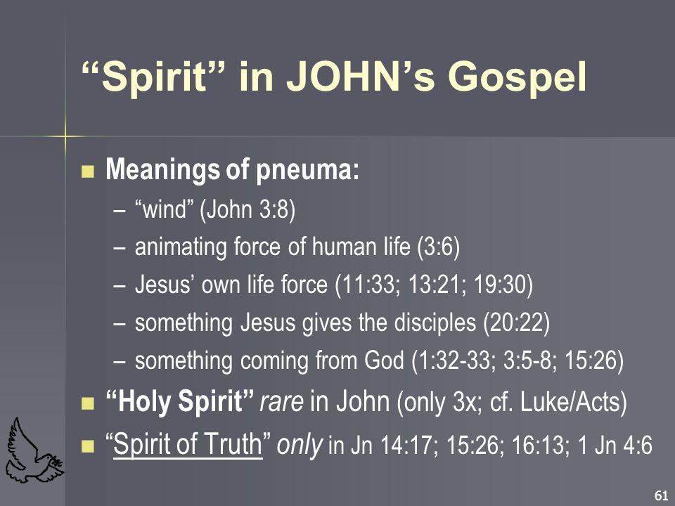 Spirit in JOHN's Gospel