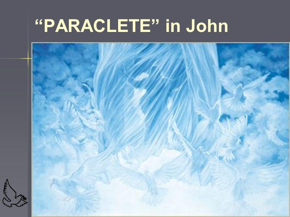 PARACLETE in John