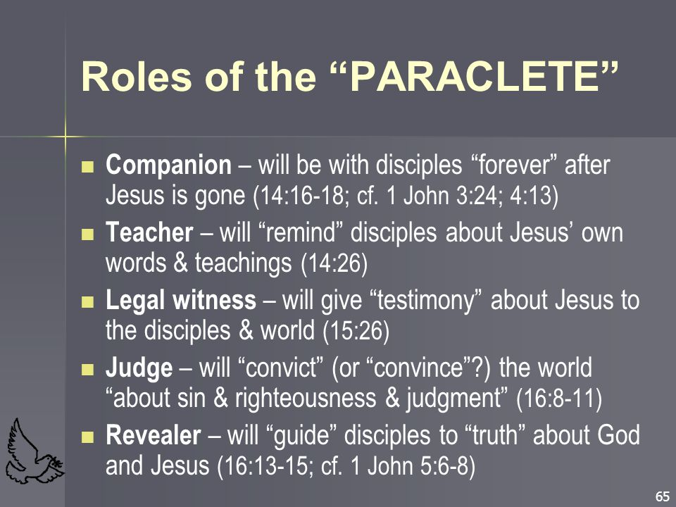 Roles of the PARACLETE