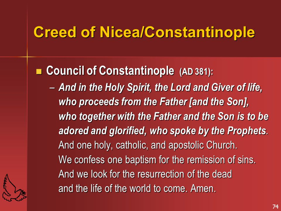 Creed of Nicea/Constantinople