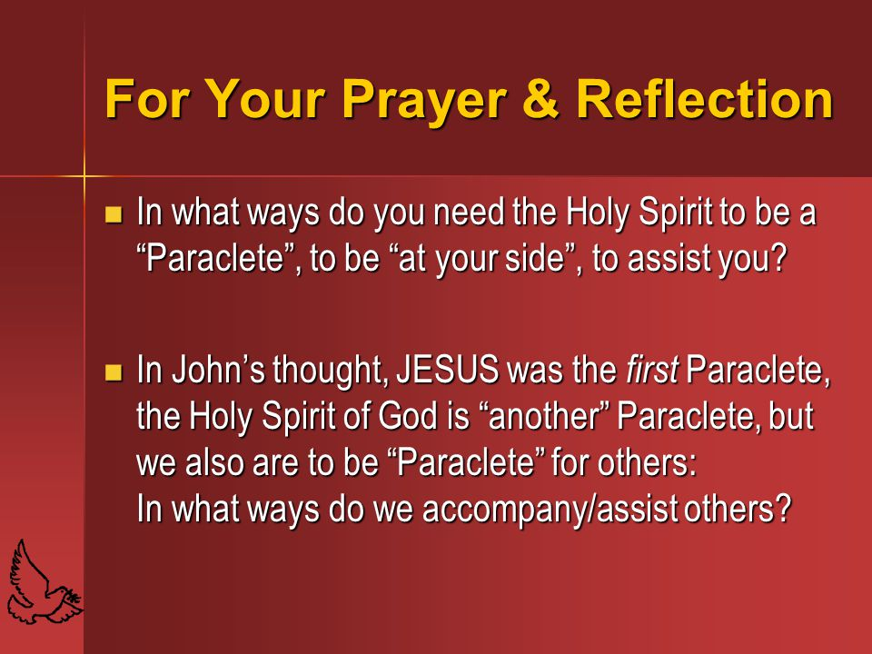 For Your Prayer & Reflection