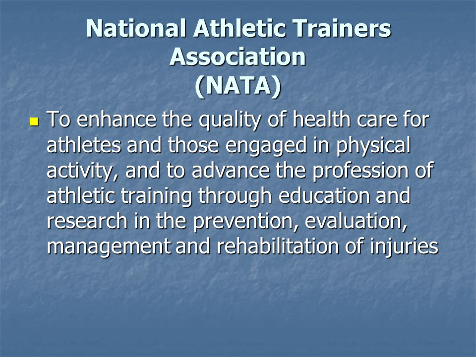 National Athletic Trainers Association (NATA)