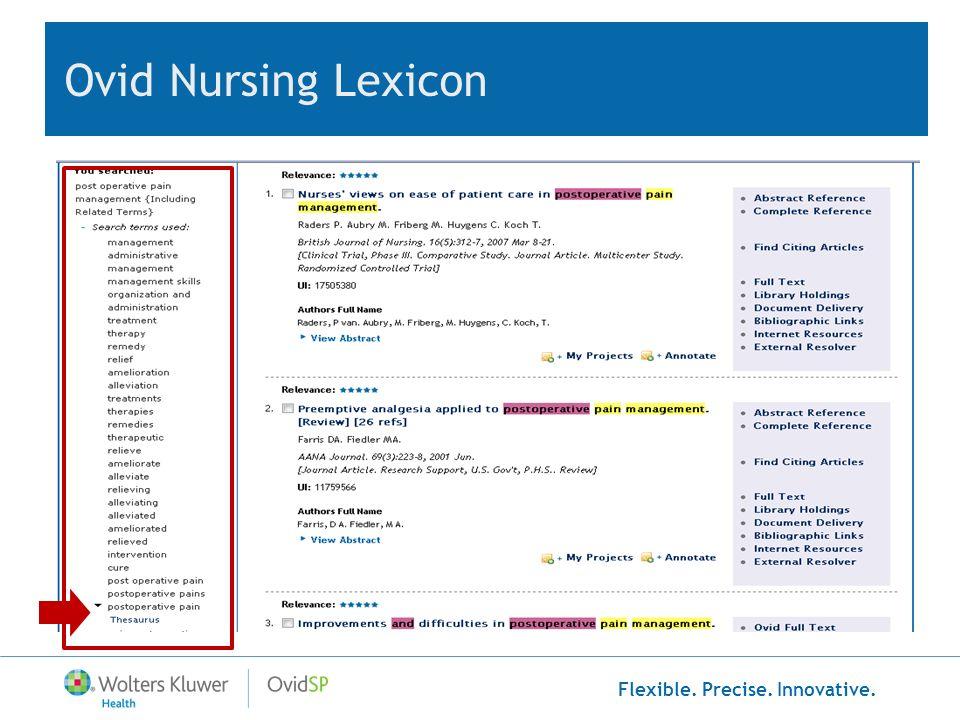 Ovid Nursing Lexicon