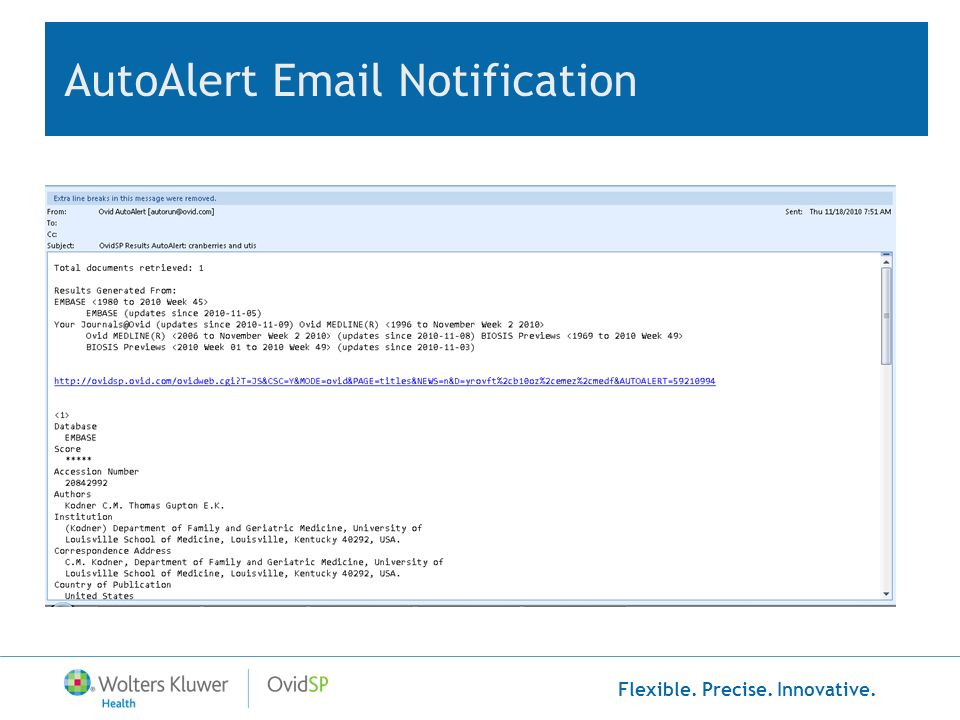AutoAlert Email Notification