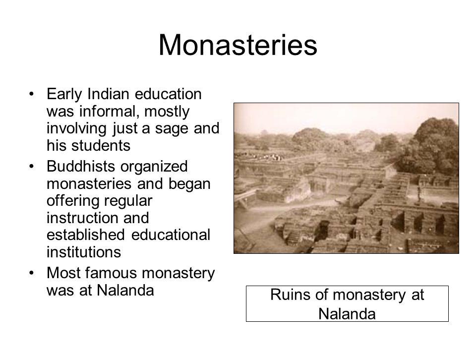 Ruins of monastery at Nalanda