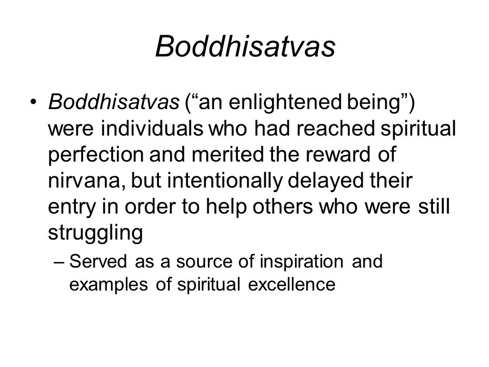 Boddhisatvas