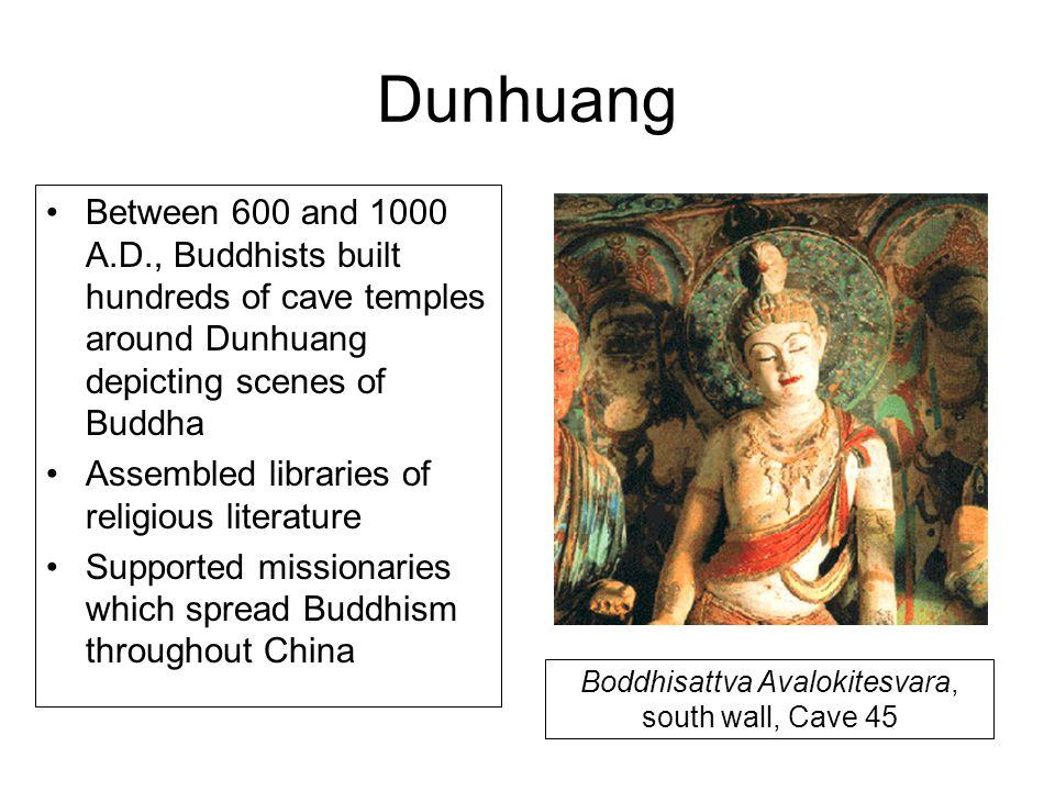 Boddhisattva Avalokitesvara, south wall, Cave 45
