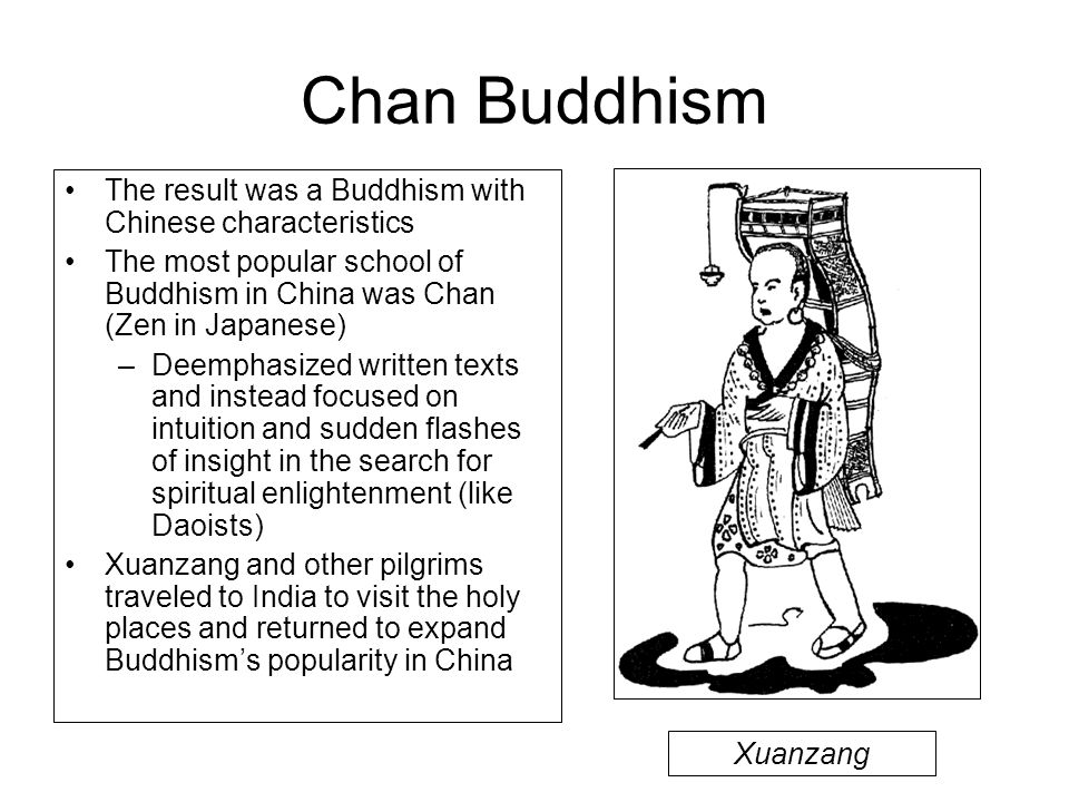 Chan Buddhism The result was a Buddhism with Chinese characteristics