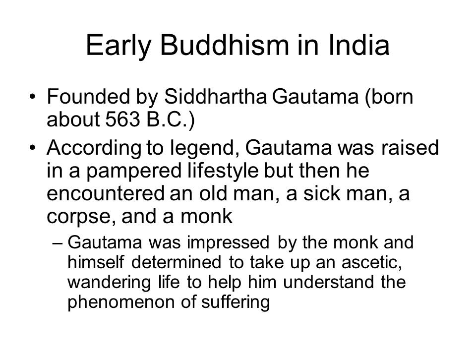 Early Buddhism in India