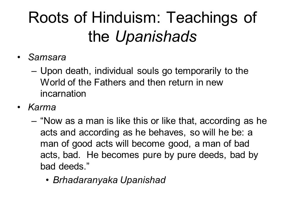 Roots of Hinduism: Teachings of the Upanishads