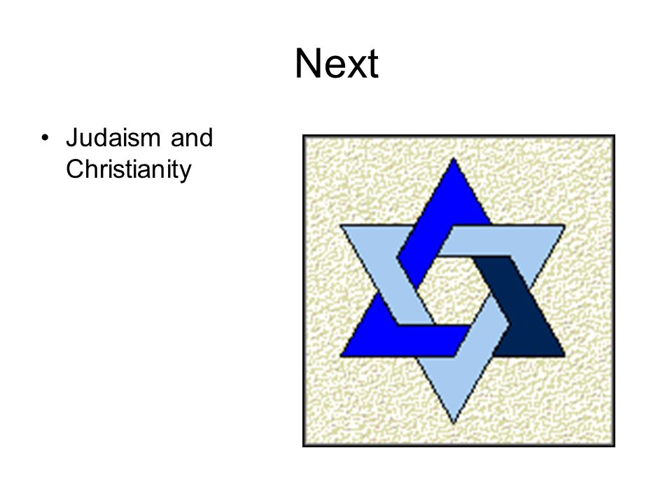 Next Judaism and Christianity