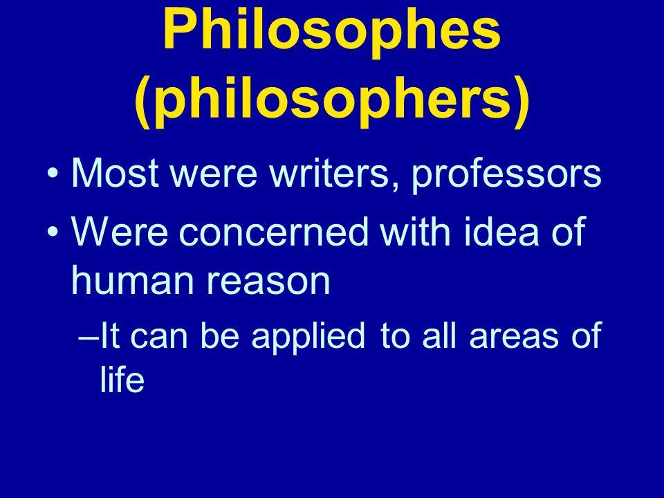 Philosophes (philosophers)