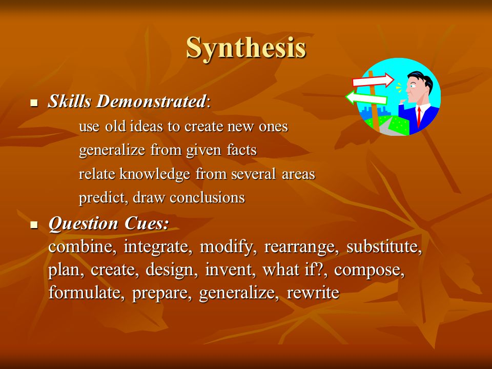 Synthesis Skills Demonstrated: