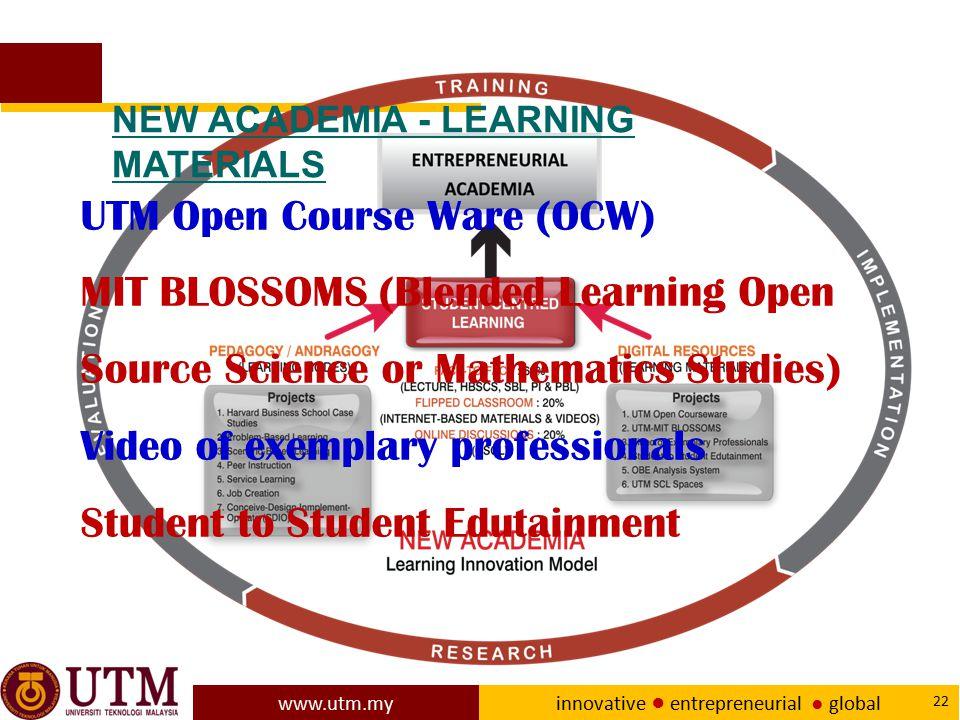 UTM Open Course Ware (OCW)