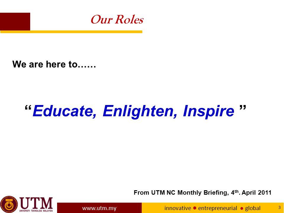 Educate, Enlighten, Inspire