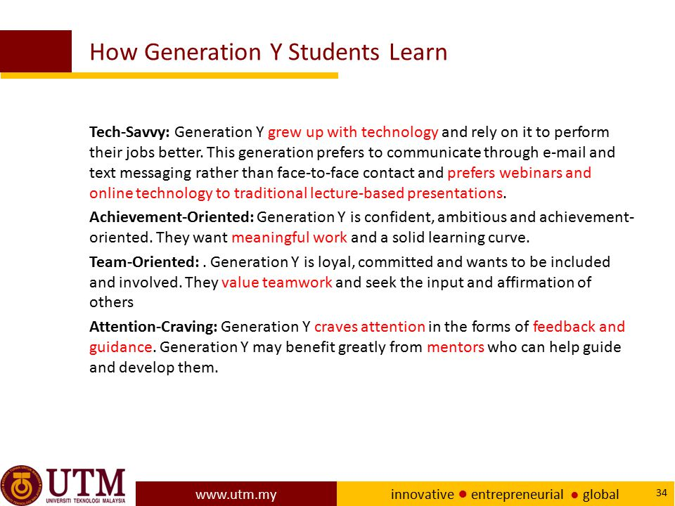 How Generation Y Students Learn