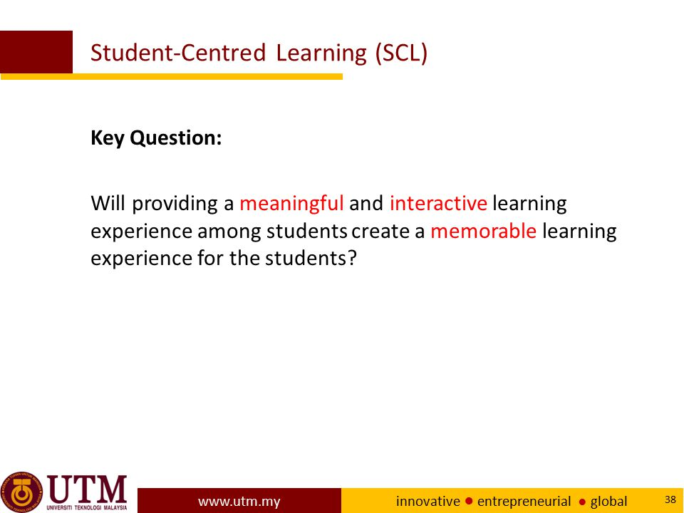 Student-Centred Learning (SCL)