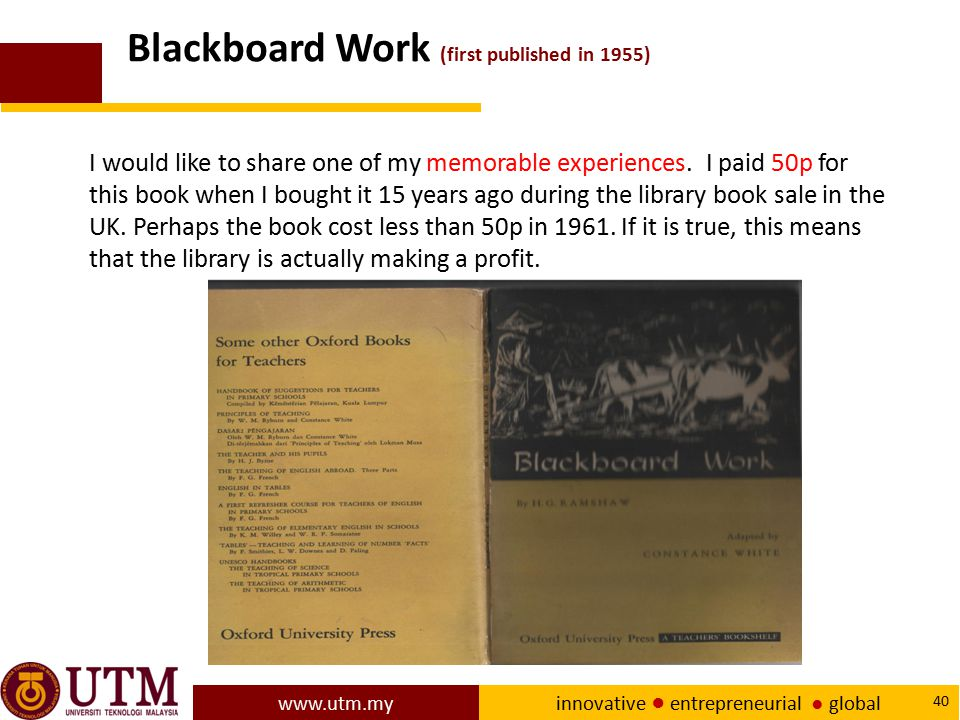 Blackboard Work (first published in 1955)