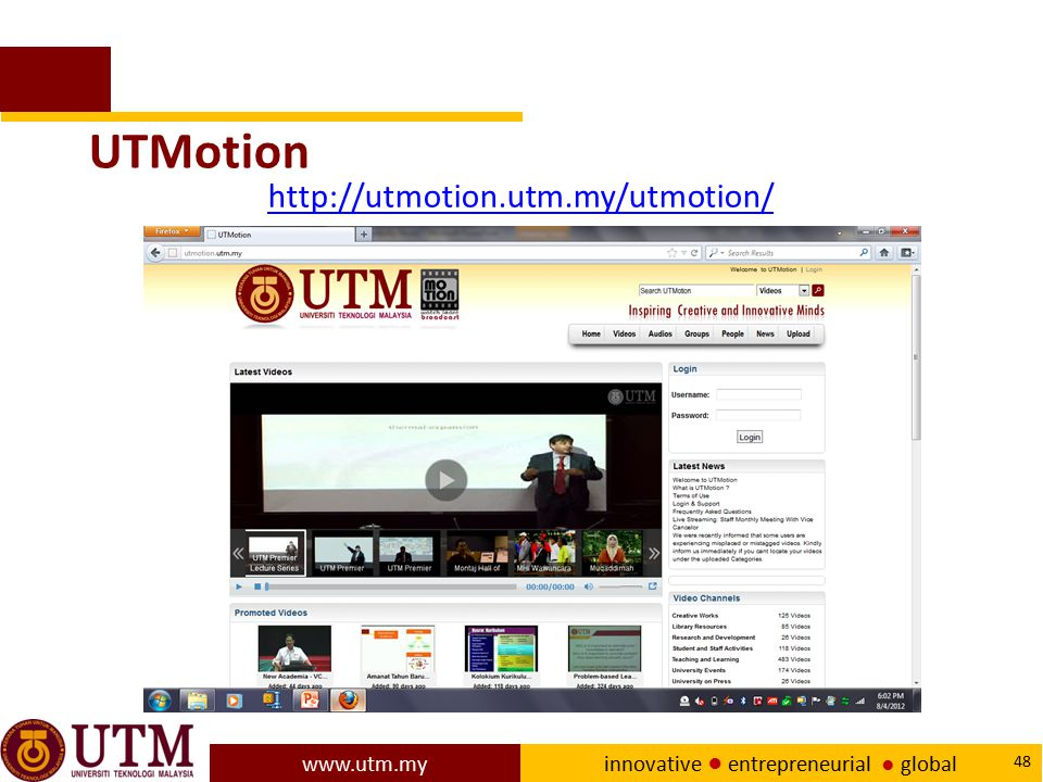 UTMotion http://utmotion.utm.my/utmotion/