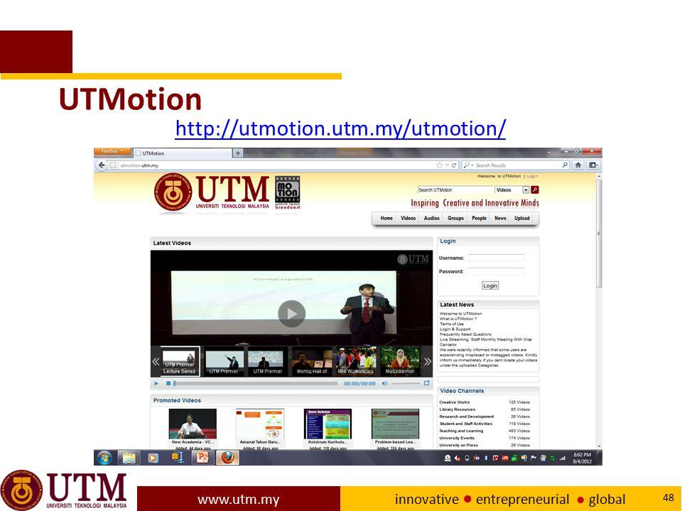 UTMotion http://utmotion.utm.my/utmotion/