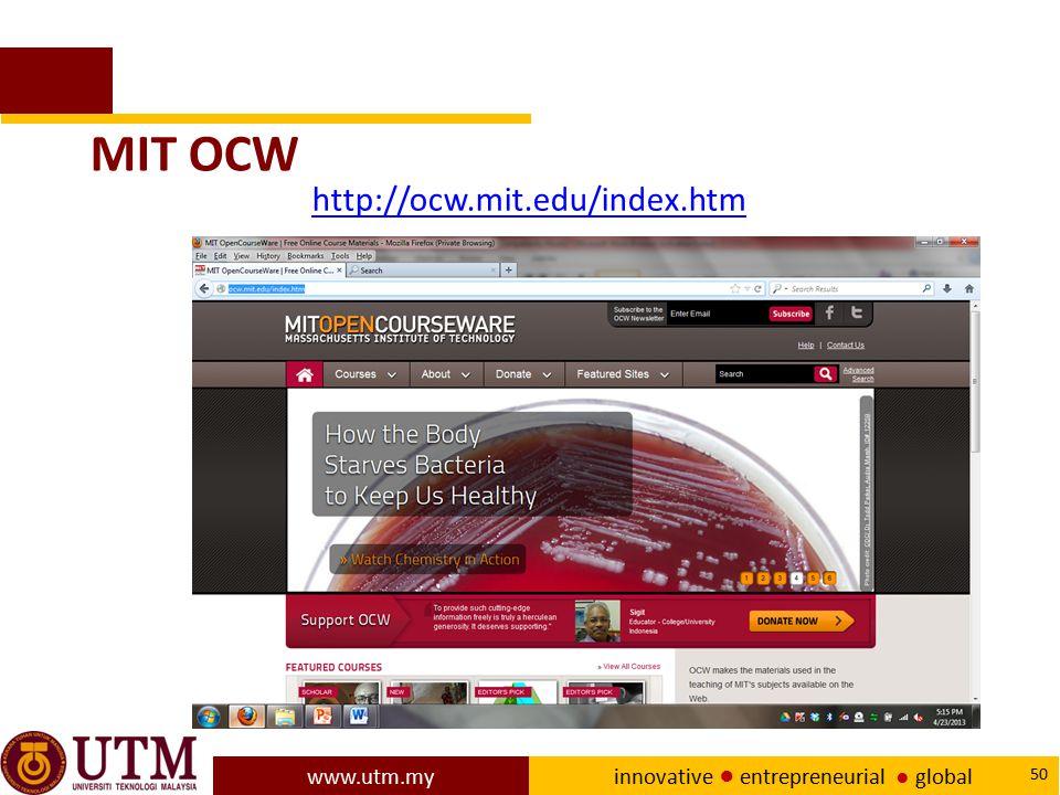 MIT OCW http://ocw.mit.edu/index.htm