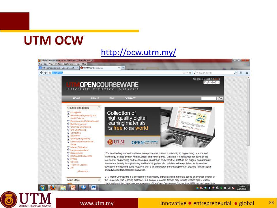 UTM OCW http://ocw.utm.my/