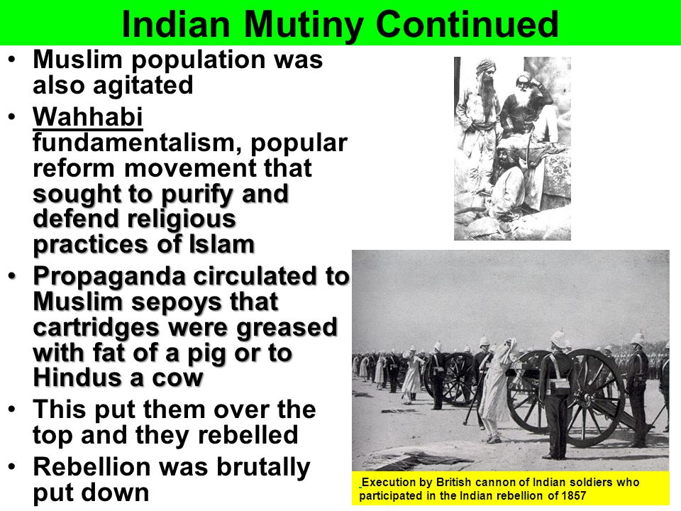 Indian Mutiny Continued
