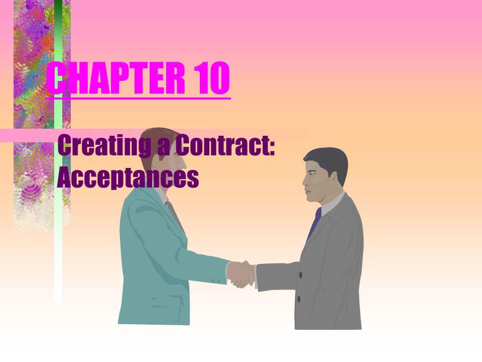 Creating a Contract: Acceptances