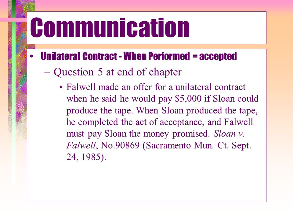 Communication Question 5 at end of chapter