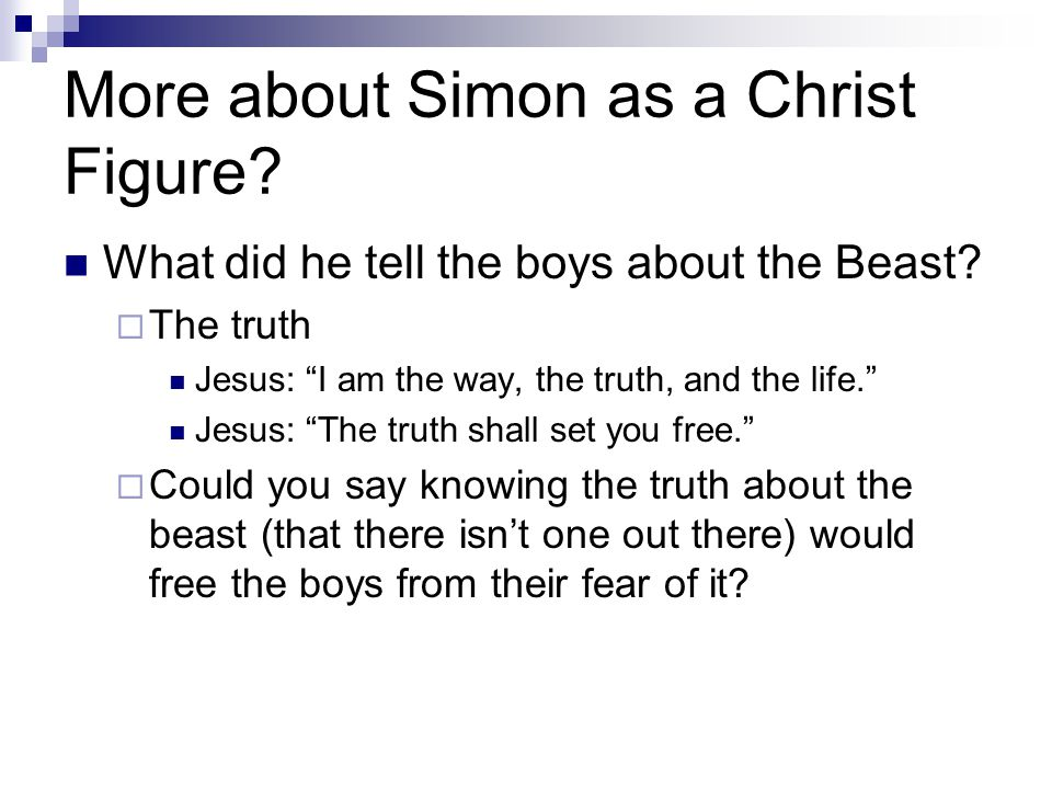More about Simon as a Christ Figure