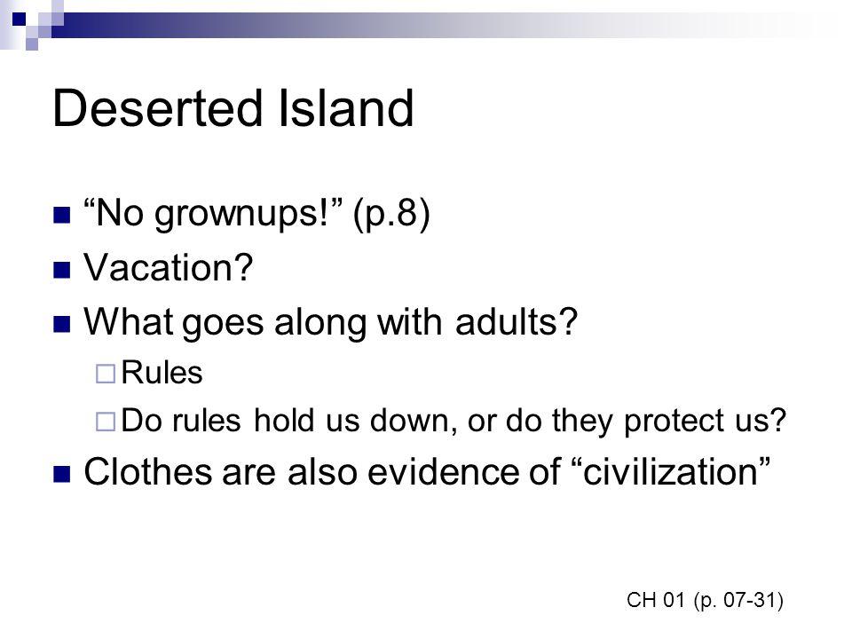 Deserted Island No grownups! (p.8) Vacation