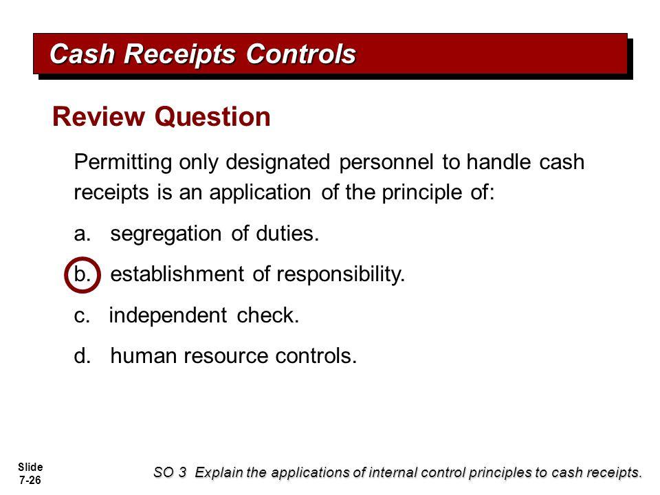 Cash Receipts Controls