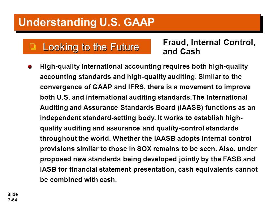 Understanding U.S. GAAP Looking to the Future