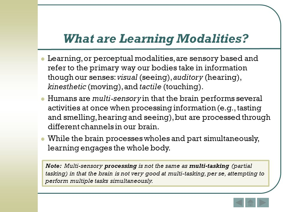 What are Learning Modalities