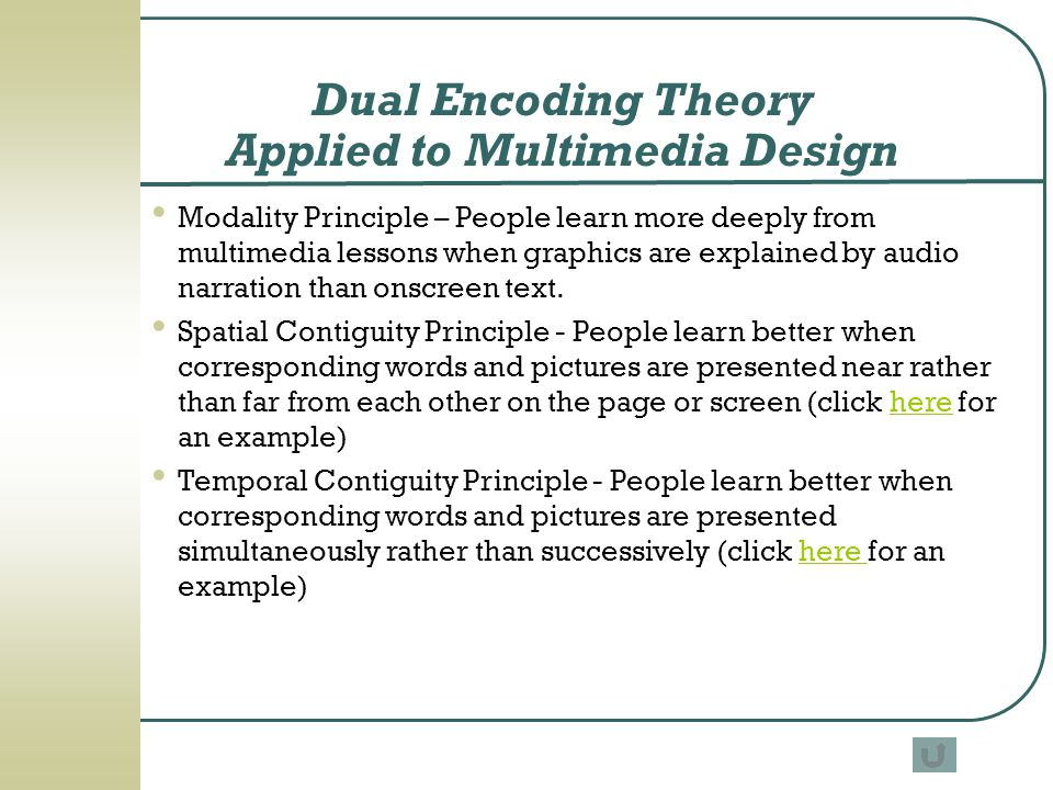 Dual Encoding Theory Applied to Multimedia Design