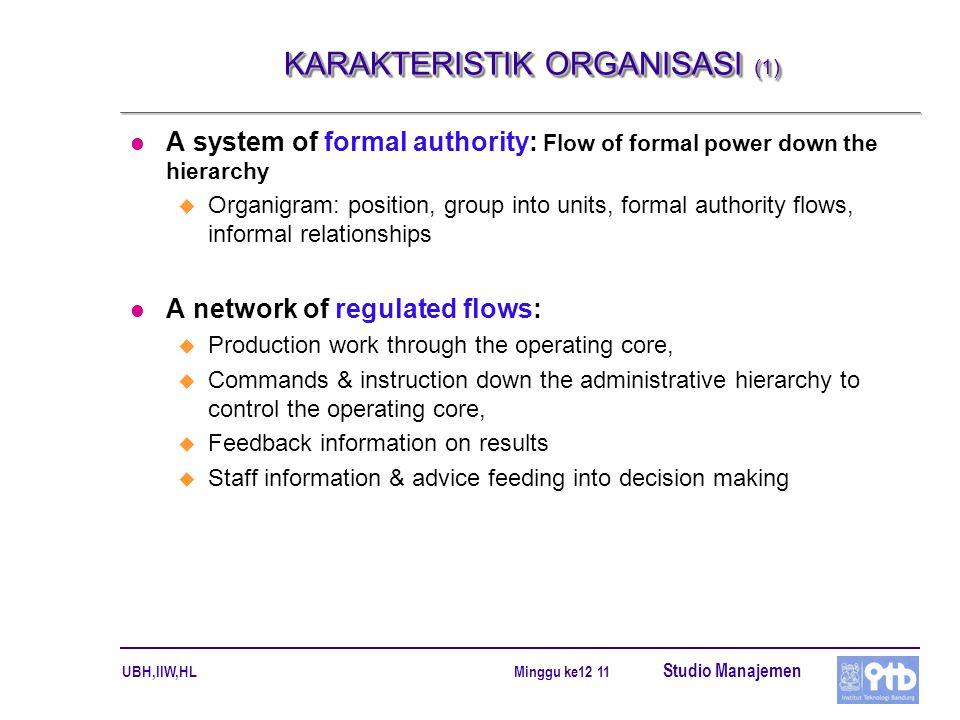 KARAKTERISTIK ORGANISASI (1)