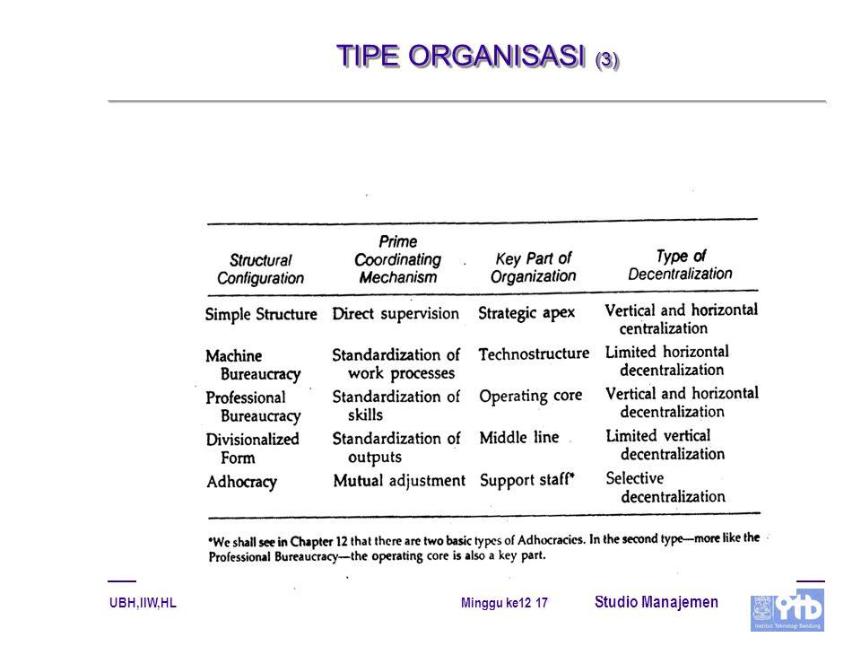 TIPE ORGANISASI (3)