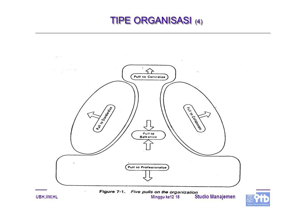 TIPE ORGANISASI (4)