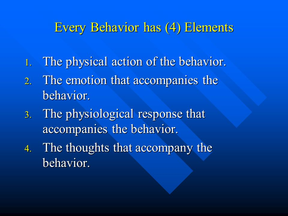 elements of behavior The key elements in organizational behavior are people, structure, technology and the external elements in which the organization operates when people join together.