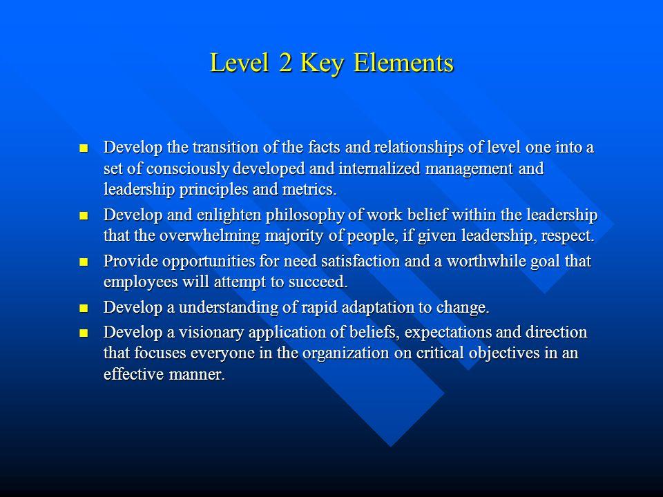 Level 2 Key Elements