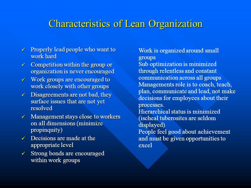 Characteristics of Lean Organization