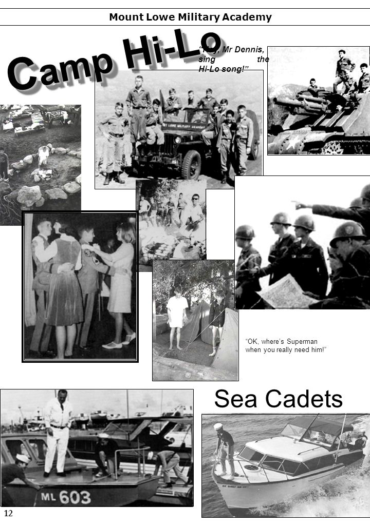 Camp Hi-Lo Sea Cadets Mount Lowe Military Academy 12