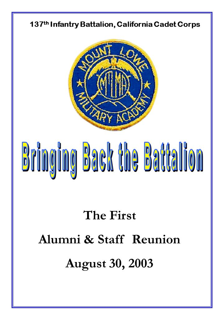 Bringing Back the Battalion