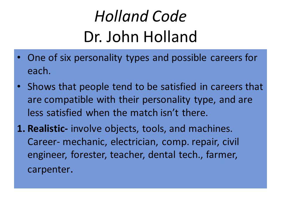 Holland Code Dr. John Holland