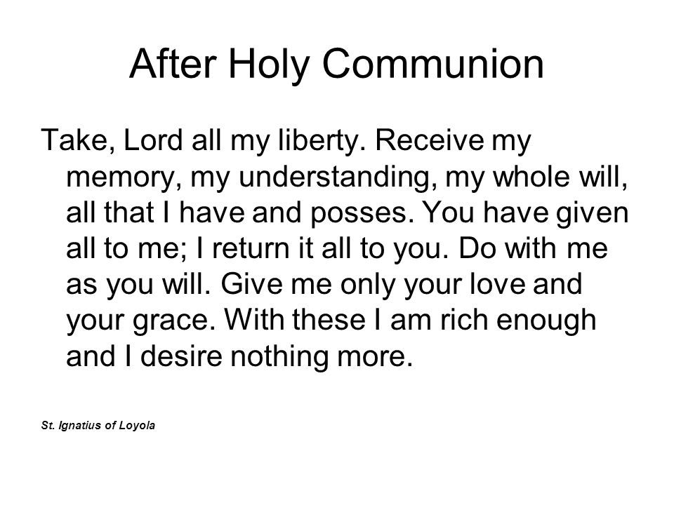 After Holy Communion