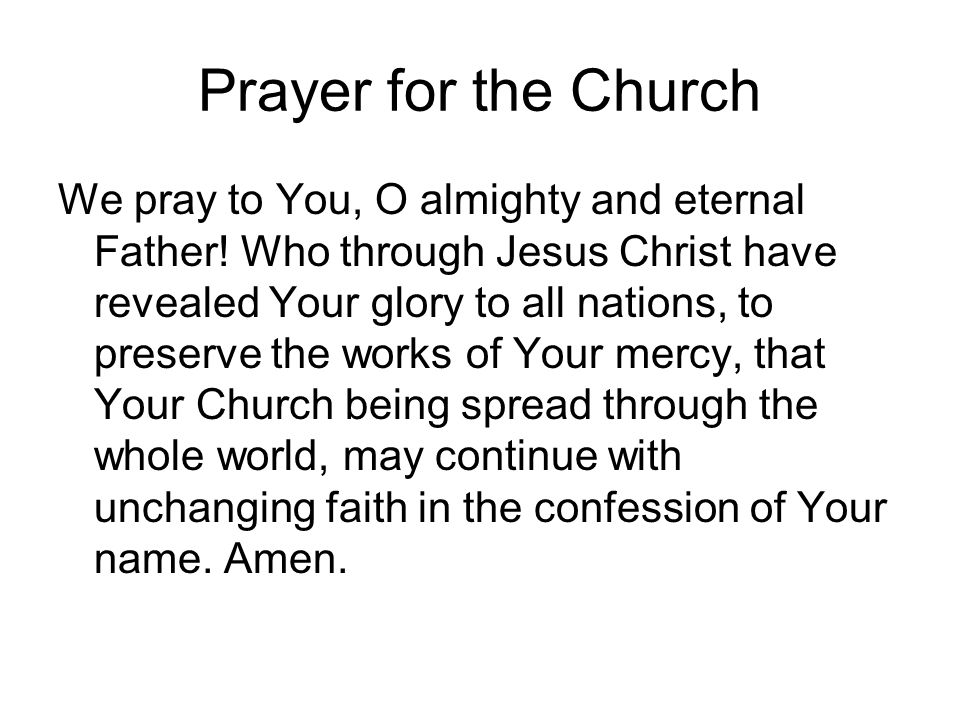 Prayer for the Church