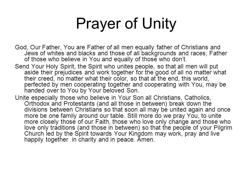 Prayer of Unity