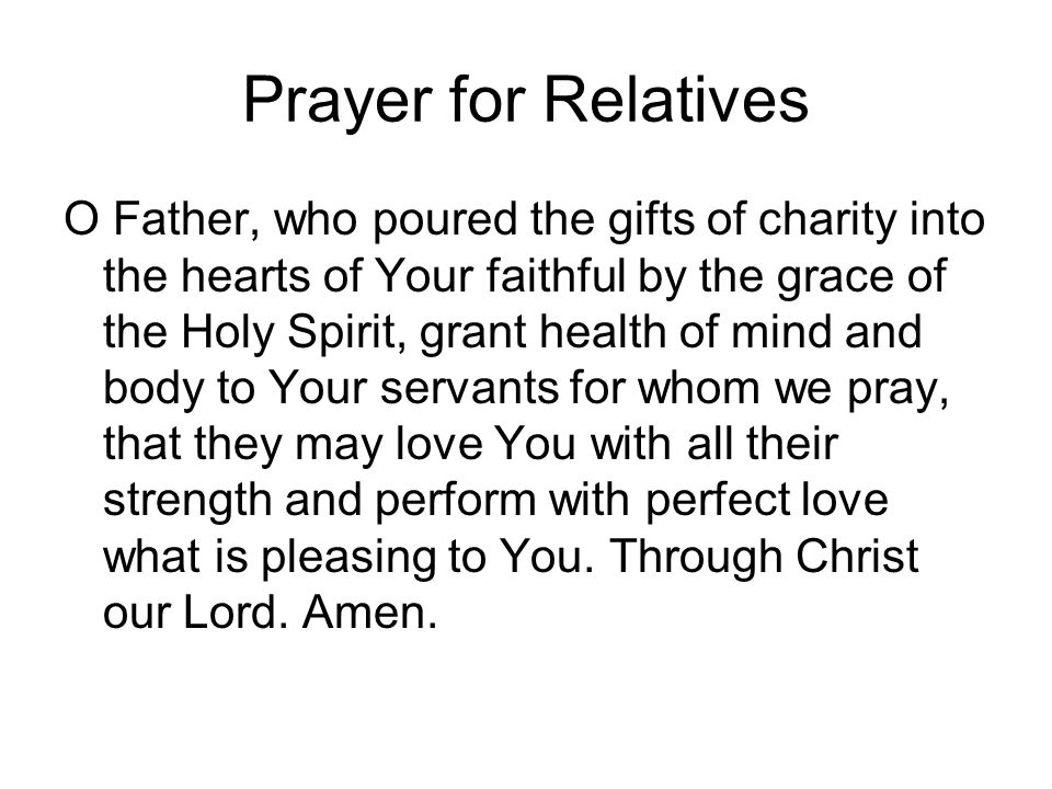 Prayer for Relatives